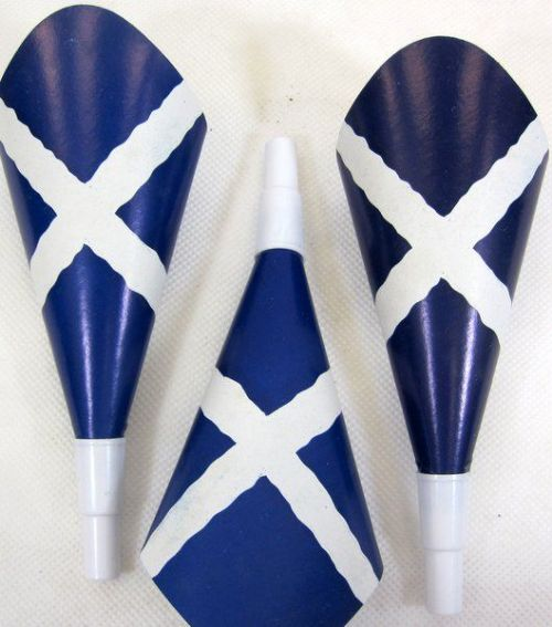 Scotland Flag Party Trumpets Printed 12s British Scottish Highlander Brave